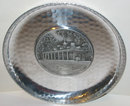 MT. VERNON PLATE * OLD VINTAGE HAMMERED TIN