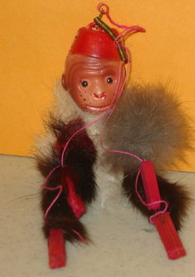 Monkey Celluloid Toy Doll Japan