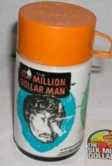 1978 Six Million Dollar man Thermos / old