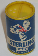 Sterling Mr. Salty Salt Shaker Sample