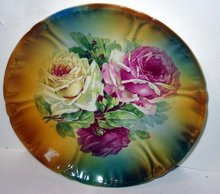 Cabbage Rose Collectors Plate