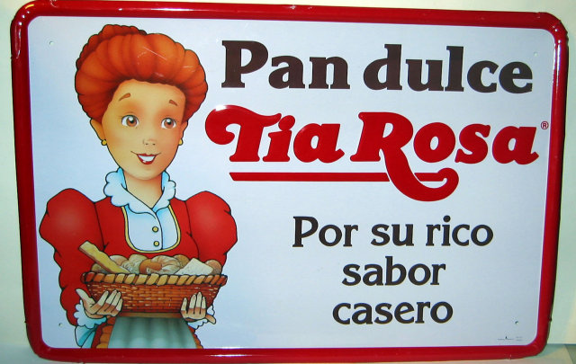 Pan Dulce Metal Sign - Tia Rosa