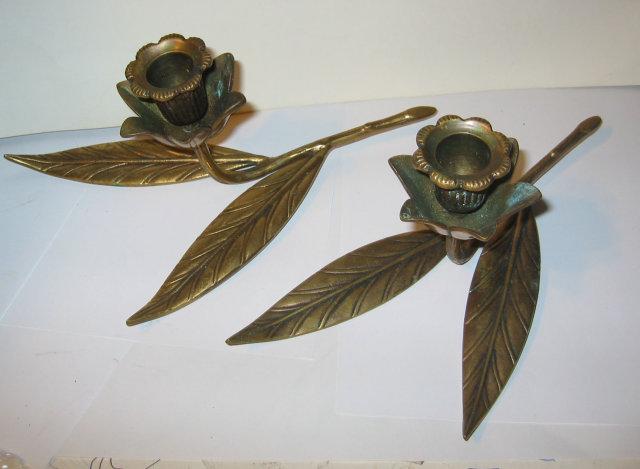 Brass Branch Candlestick Holders