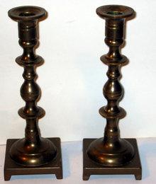 BRASS CANDLESTICK HOLDERS / candleholders