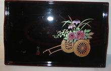 VINTAGE LAQUER JAPAN TRAY