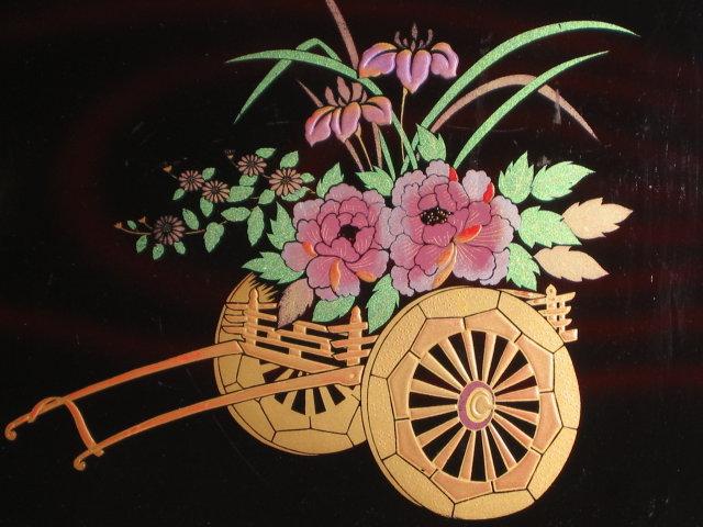 VINTAGE LAQUER JAPAN TRAY