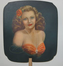 ROCK ISLAND IL PINUP FAN * GLORIA LITHO