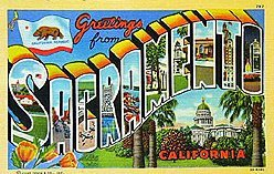 California Big Letter Postcards