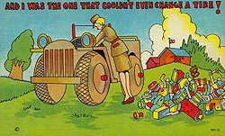 W.A.C. Linen Comical Military Postcards