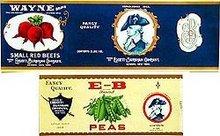 33 Vintage Vegetable Fruit Can Labels