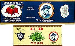 33 Vintage Vegetable Fruit Can Labels