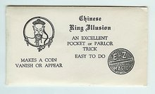 VINTAGE CHINESE RING ILLUSION MAGIC COIN TOY