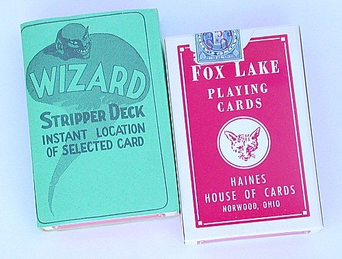 VINTAGE HAINES WIZARD MAGIC CARD DECK 1950S