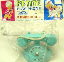 4 VINTAGE DOLL HOUSE TOY PLAY TELEPHONES in