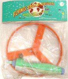 6 Old Vintage FLYING SAUCER Space Toys