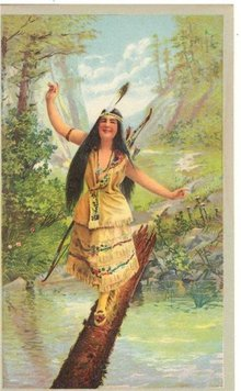 Indian Maiden Chromolithograph Print