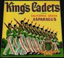 King's Cadet Asparagus Crate Label