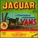 Jaguar Yams Crate Label - Louisiana - Cat