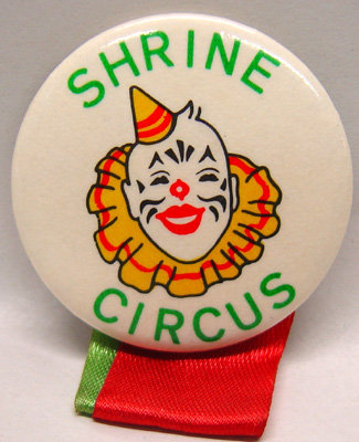 Shrine Circus Pinback Pins