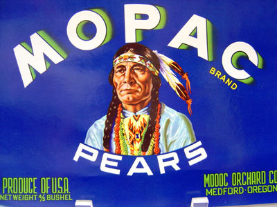 Mopac Indian Crate Citrus Label