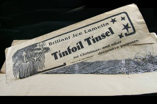 VINTAGE SILVER GERMAN ICICLES TINSEL xmas