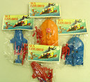 4 VINTAGE 1960s  SEA EXPLORER Toys on Card toy