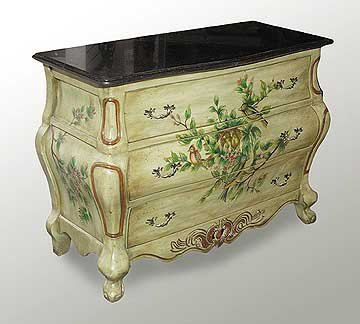 BOMBAY WOOD CHEST HAND PAINTED NEW