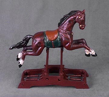 Cast Iron Mechanical Horse Toy