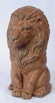 CAST IRON LION GARDEN STATUE