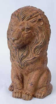 CAST IRON LION GARDEN STATUE
