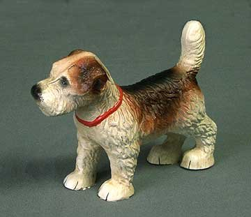 CAST IRON STANDING PUPPY DOG STATUE * GARDEN