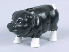 CAST IRON PIG PIGGY BANK