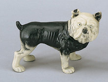 CAST IRON BULL DOG PIGGY BANK