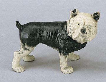 CAST IRON BULL DOG PIGGY BANK