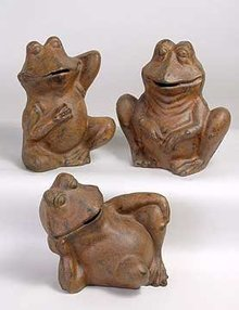 Cast Iron Frog Banks