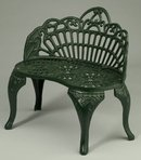 CAST IRON MINI GARDEN DOLL HOUSE BENCH