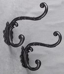 2 CAST IRON CLOTHING HOOKS