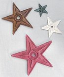 PRIMTIVE BUILDING STARS * 5 CAST IRON STAR