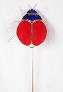 Garden Stake - Ladybug Glass