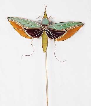 Garden Stake - Dragonfly Glass