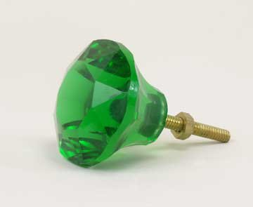 Green Glass Drawer Pulls 2