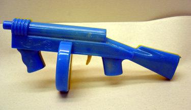 VINTAGE MACHINE GUNS * 6 OLD 1950S CLICKER TOYS