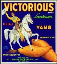 VICTORIOUS LOUISIANA YAM CRATE LABEL * OLD
