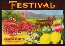 Festival Red Ball Lemon Citrus Crate Label