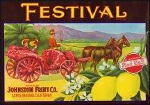 Festival Red Ball Lemon Citrus Crate Label
