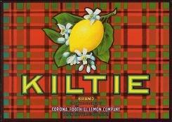 Lemon Kiltie Citrus Crate Label