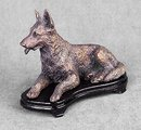 BRASS GERMAN SHEPARD STATUE
