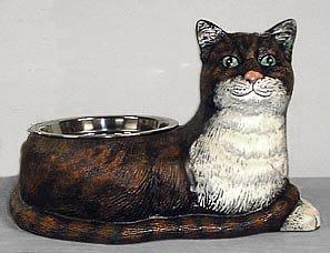 CAST IRON CAT FOOD BOWL