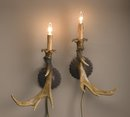 ANTLER RESIN WALL SCONCES