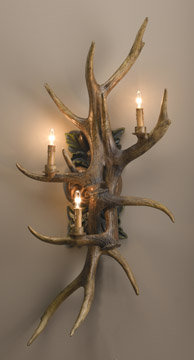 ANTLER RESIN WALL SCONCE LAMP